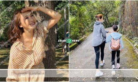 Gigi Lai and her daughter go for hiking together