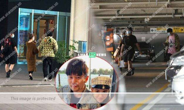 Jay Chou and Hannah Quinlivan shopped at an ordinary outlet