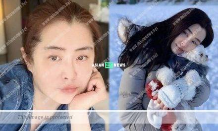 Joey Wong takes her dog for skiing without wearing face mask