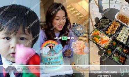 36-year-old Linda Chung had a simple birthday celebration at home