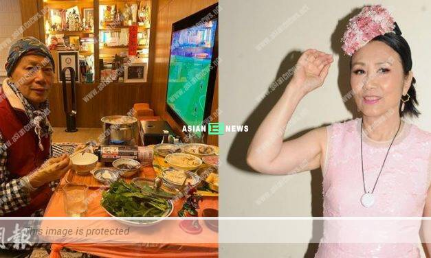 Liza Wang prepared delicious steamboat for Law Kar Ying