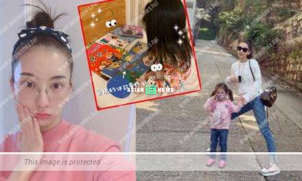 Aaron Kwok's wife, Moka Fang takes good care of her family