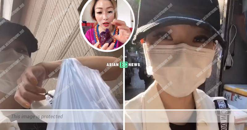 Curious Sammi Cheng tried to find out different purple sweet potato at the market
