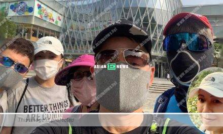 Sheren Tang stays positive and goes for hiking with her friends