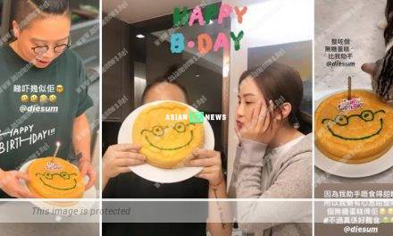 Charlene Choi bakes a birthday cake without sugar for her assistant