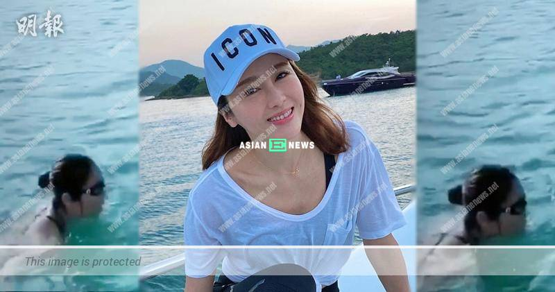 Gigi Lai goes for a swim in the sea: The water is colder than I thought