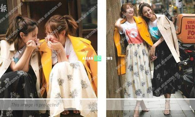 Good friends Grace Chan and Katy Kung wear similar clothes