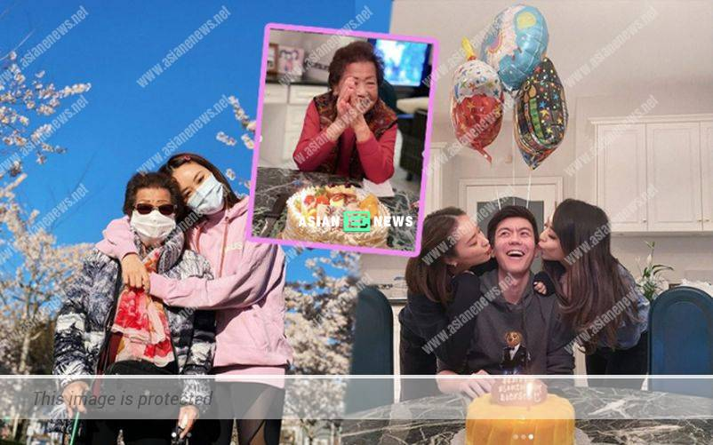 Jeannie Chan celebrates her family members' birthday together in Canada