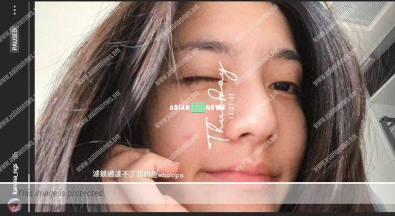 Karena Ng has a pimple when showing her natural beauty