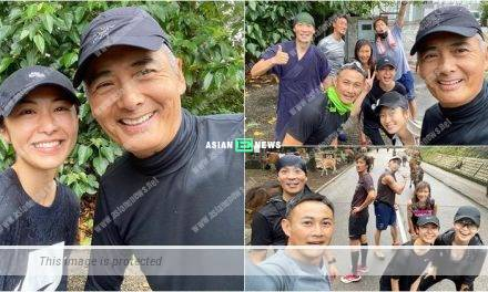 Kathy Yuen goes for running and bumps into Chow Yun Fat