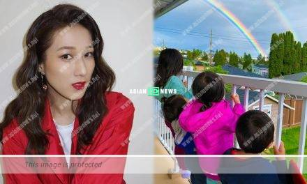 Linda Chung shows rainbow photo: Good times are coming