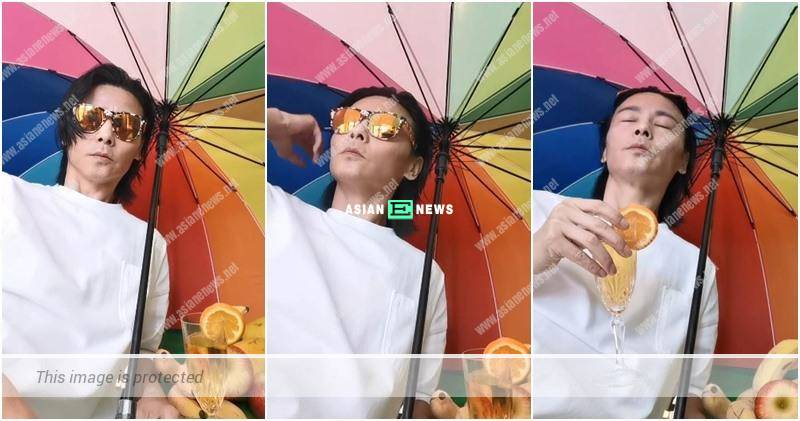 Ada Choi exposes Max Zhang pretends he is at the beach