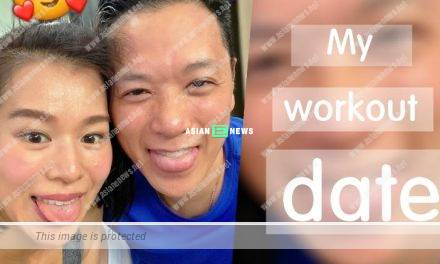 Myolie Wu and her husband go for training together