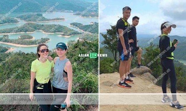 Brian Tse goes for hiking with Nancy Wu and Selena Lee