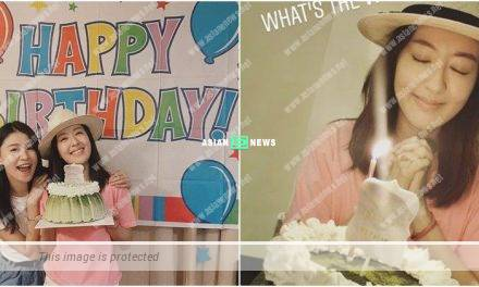 Natalie Tong turns 39 year old; Priscilla Wong prepares a birthday cake