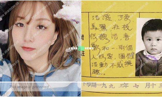 Rose Chan shows her old photo and kindergarten results