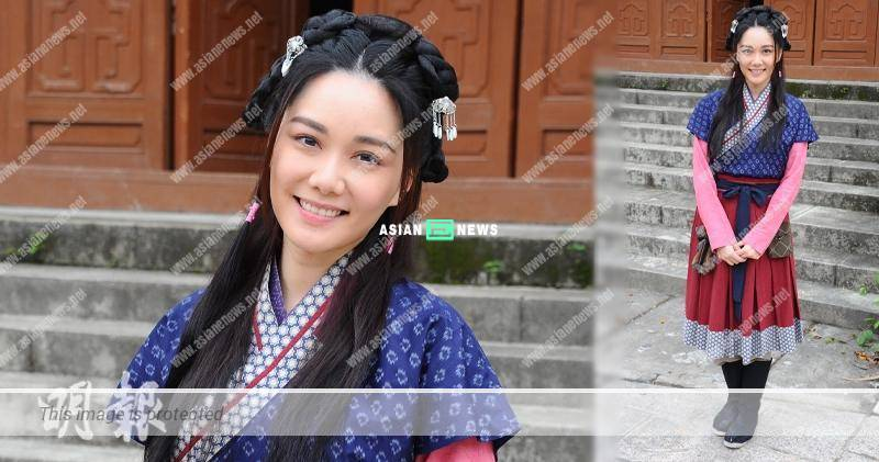 Roxanne Tong has a heavy perspiration when filming period drama