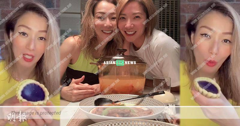 Sammi Cheng enjoys sweet potato tart and has dinner with Stephanie Che