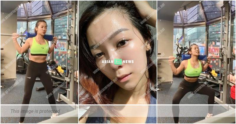 Stephanie Ho resumes her training after the fitness centre is opened