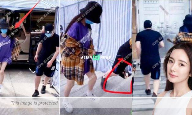 Yang Mi exposes herself when somebody takes photographs of her secretly