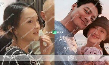 Having marriage problems? Zhou Xun ignores it and smiles at an exhibition