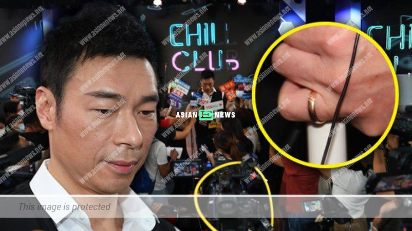 Andy Hui wears his wedding ring; His eyes are wet when mentioned about Sammi Cheng
