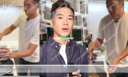 Chris Lai competes his culinary skills with Edwin Siu at a charity show