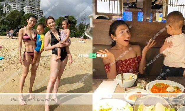 Coffee Lam takes her son to the beach