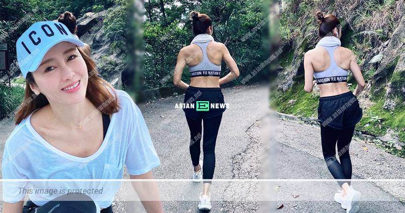 Gigi Lai goes for running and remains fit
