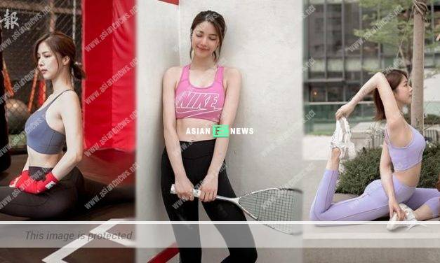 Hera Chan plays squash and shows her fit body figure