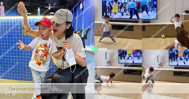 Myolie Wu's son Brendan loves to dance and wins compliments