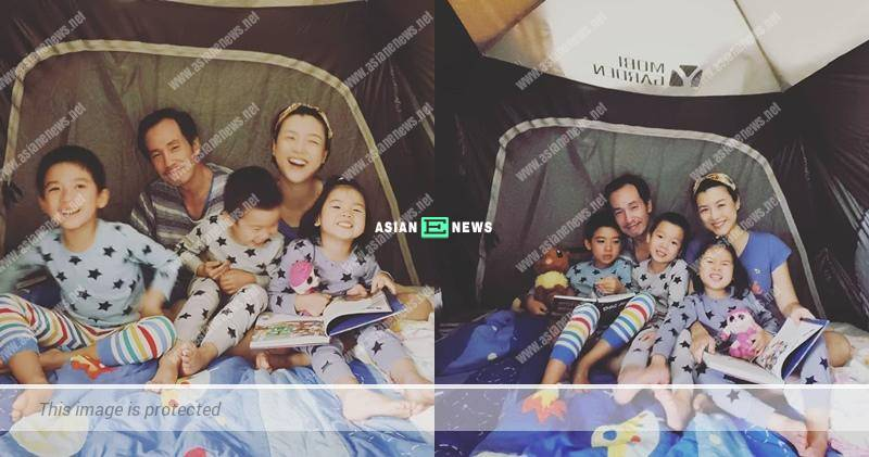 An extraordinary activity? Aimee Chan sets up a tent in her house
