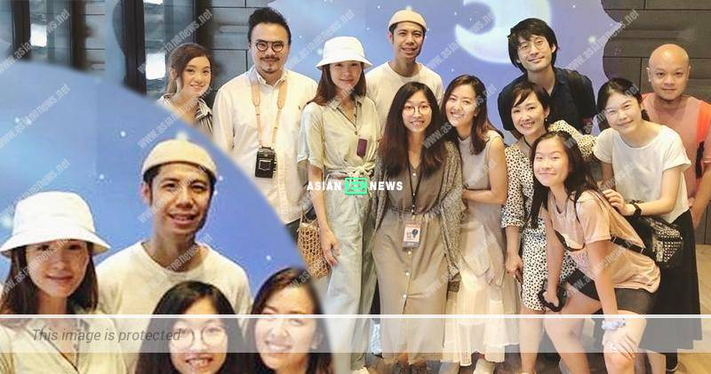 Ali Lee and Danny Chan support Natalie Tong at an art exhibition