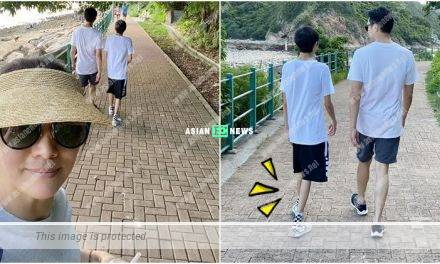 Anita Yuen and her family go for hiking