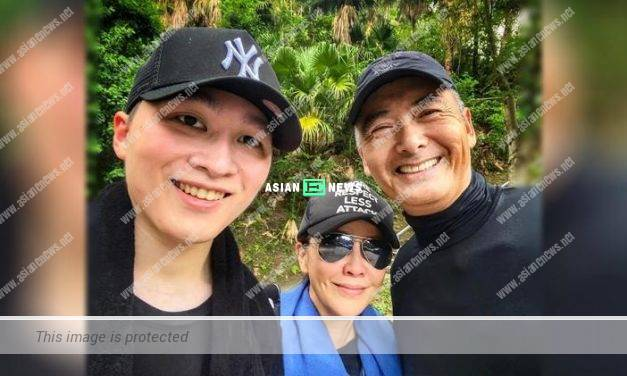 Carina Lau goes for hiking with her nephew