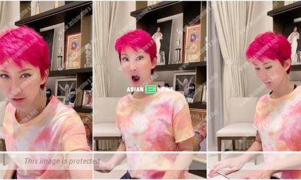 Coco Lee shows her red hair and learns to play piano