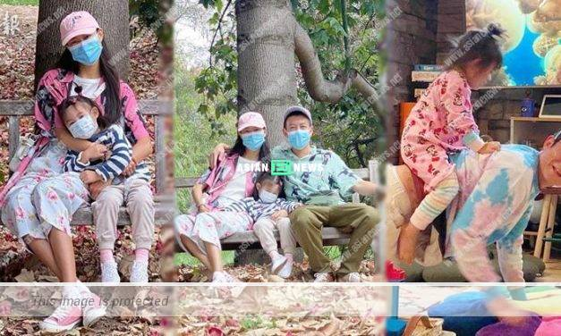 Edison Chen takes his family to the park