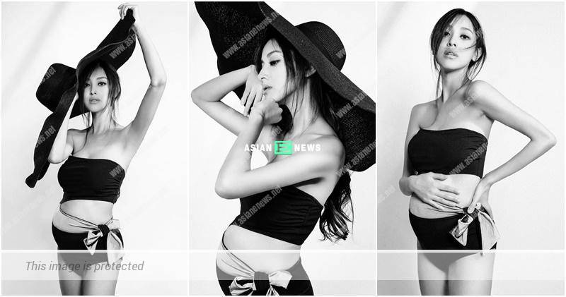 Grace Chan shows her black and white photo album