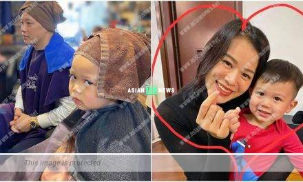 Myolie Wu's son is unhappy at a hair salon?