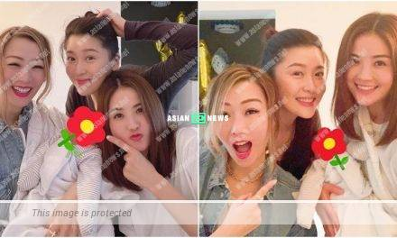 Sammi Cheng and Charlene Choi pay a visit to Niki Chow and her son