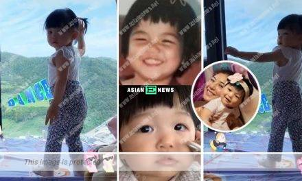 Phoebe Sin shows her childhood photo