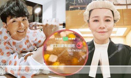 Priscilla Wong's husband Edwin Siu makes dessert for her