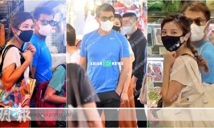 Ruco Chan and Phoebe Sin buy groceries together at the market