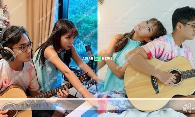 Stephanie Ho and Fred Cheng listen to music to relieve stress