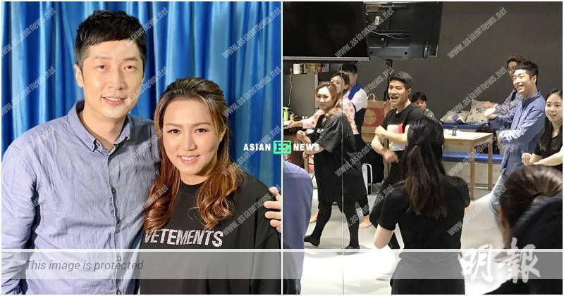 Steven Ma and Vivian Lai sing happy song for the stage play