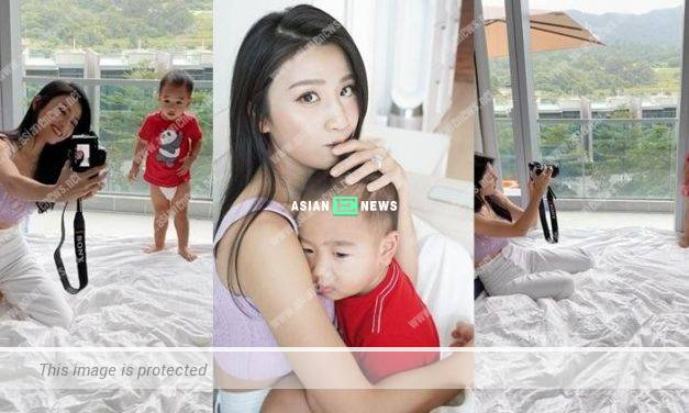 Coffee Lam assumes her son wants to take photo with her