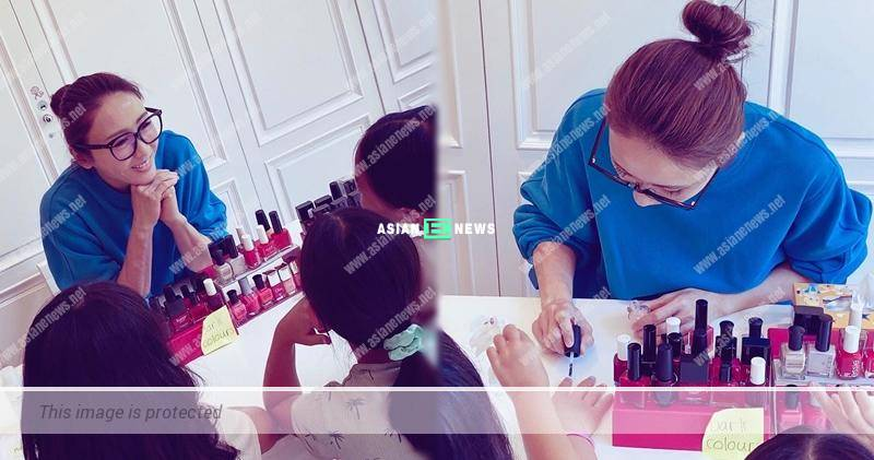 Gigi Lai transforms into manicurist: My little customers are happy with my services