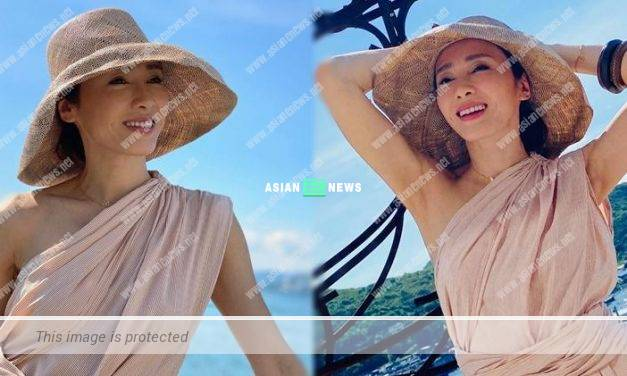 Gigi Lai drinks red bean soup and watermelon to prevent dehydration
