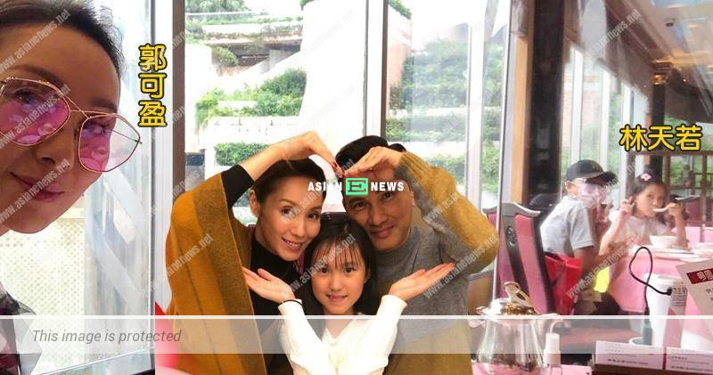 Kenix Kwok and Frankie Lam take their daughter out for lunch