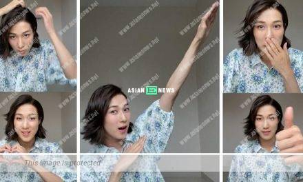 Linda Chung cuts her hair short and plays live broadcast